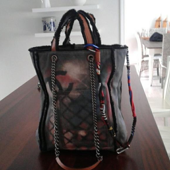 f18a924c16f551 CHANEL Handbags - CHANEL OH MY BOY GRAFFITI TOTE